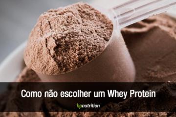 Scoop de whey protein de chocolate