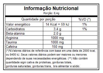 tabela nutricional horus